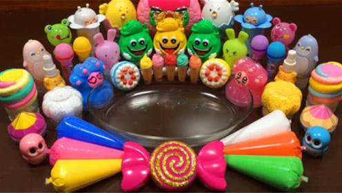 DIY史莱姆教程,裱花袋彩泥+Q弹果冻泥+彩虹解压球,效果棒棒哒