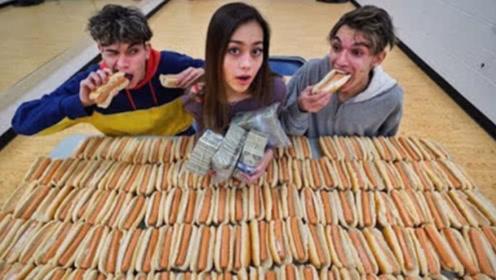 女友放大招了,吃完100个面包就有5000美金,结果让人淡定不了了!