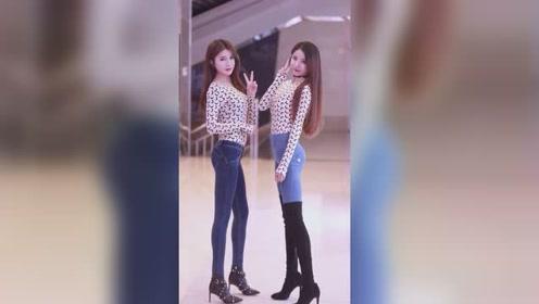 漂亮的双胞胎小姐姐,第一眼看去,你会喜欢上哪个?