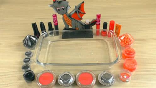 DIY史莱姆教程,橘色黑色双色系史莱姆,无硼砂无胶水