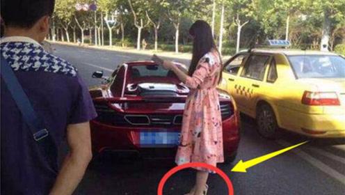 穿着高跟鞋开车,再好的技术也拯救不了这样的女司机!