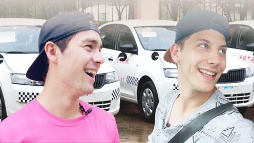 美国7年老司机,挑战中国驾考科目二,结果被怼哭了