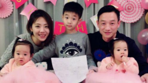 杨威夫妇为双胞胎女儿庆一周岁生日 现场简单温馨