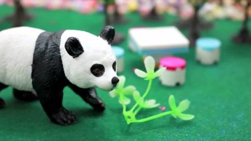 逃走的大熊猫 下集,动物园的大熊猫跑了出来,小猪佩奇玩具故事