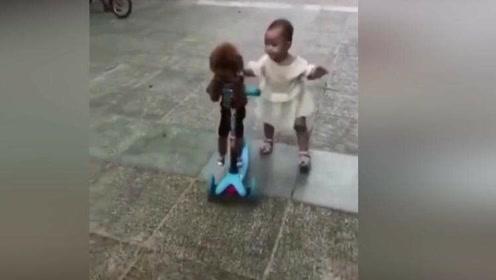 宝宝:有泰迪劫持我的车!对,背包的那个!