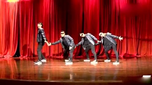 机械舞团美国纽约大学公演,超帅电音舞!