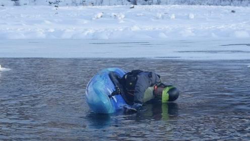 不要惹玩皮划艇的男人,他们能在零下40度的河里挑战人体极限