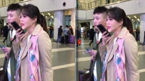 伊能静现身机场微信热聊不断,抢镜的是她的锥子脸
