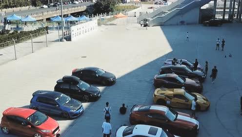 汽车直线加速活动现场实拍