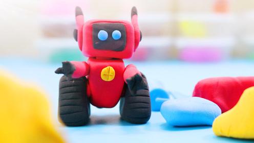超轻黏土创意手工彩泥diy熊出没之机器人coco小铁!