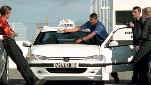 黑帮大佬和出租车司机赛车 奔驰也没用刚起步出租车司机已经没影