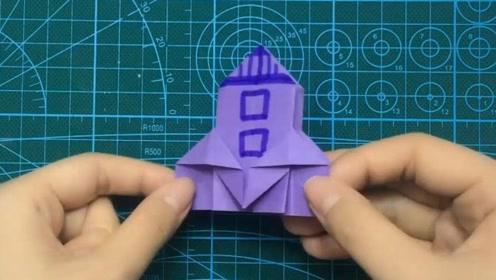 可乐姐姐做手工-折纸-可爱的宇宙飞船