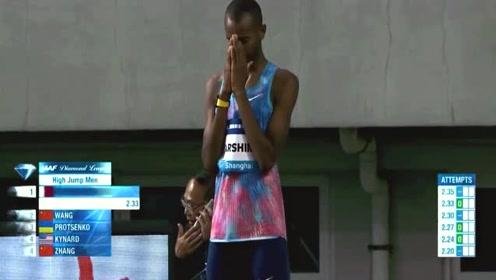 这位选手尝试2米37,紧张的向上帝祷告