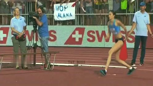 离世界记载只差毫厘!洛桑站女子跳高女神玛利亚跳出2米06