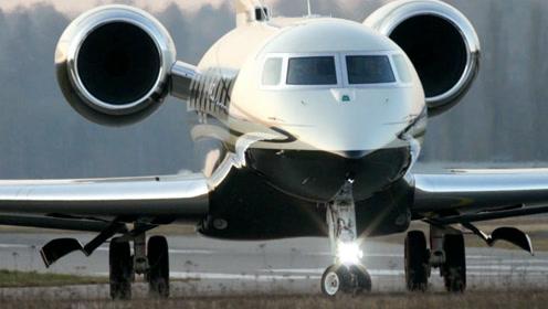 近距离实拍奢华的湾流G650 M-USIK私人飞机