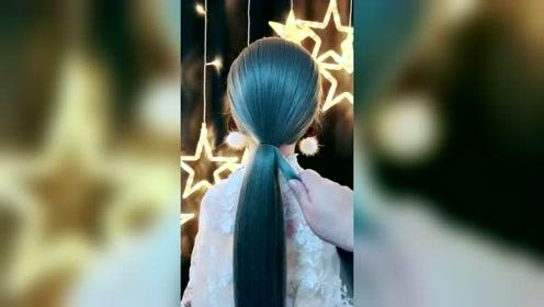 这个发型像不像孔雀?网友:这发质好极了