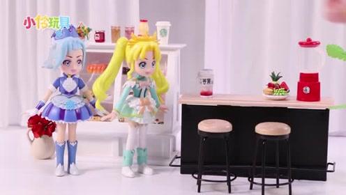 画小爱心的超迷你奶茶!小伶玩具