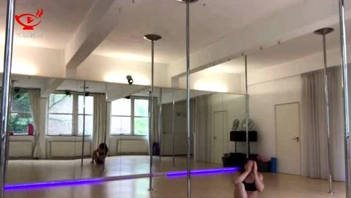 真疼!荷兰钢管舞者练习时头部着地摔下致脑震荡