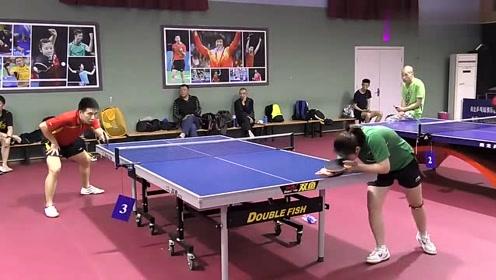 乒乓男子室内混打,满屏的世界冠军,这也是他们前进的动力
