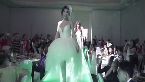 元气美女新娘婚礼热舞出场,来宾都投来了羡慕的目光!