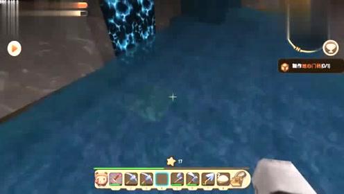 迷你世界199:被暗河冲到墙壁上摩擦