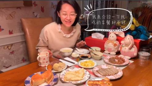 50岁许晴素颜吃早餐,不开滤镜苍老的样子吓人!网友:确实像五十岁