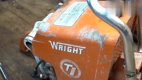 旧电锯别仍,瞧师傅怎么修复,真的很会过日子