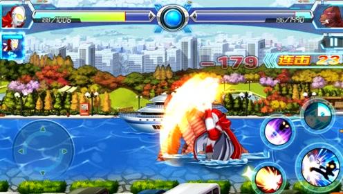 奥特曼游戏 杰克奥特曼大战小怪兽,不小心把海上的轮船摧毁了