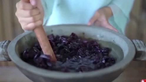 李子柒:不喜欢的葡萄皮,收集起来,这样做就成了漂亮的仙女裙了!
