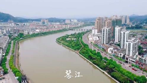 航拍江西赣州石城县城区