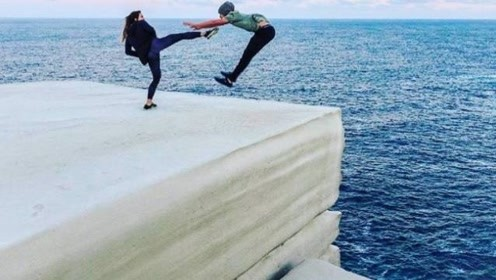 """澳洲惊现""""巨型蛋糕""""岩,坐落在悬崖禁止靠近,有人不听没机会后悔"""