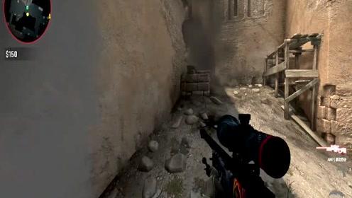 CSGO:B点被占,无法突破,老陈选择绕后狙杀逃生敌人,结果致命空枪