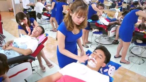 越南理发店一次一百,为什么还深受男性游客欢迎?今天总算知道了