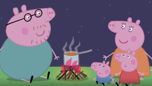 晚上 小猪佩奇听见院子里叽叽喳喳的 好像有人在说话 玩具故事