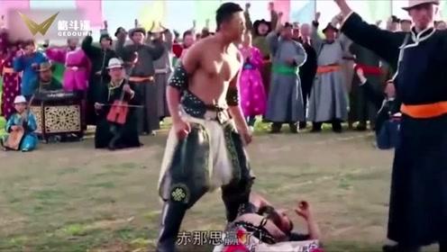 陈伟霆竟然也练过蒙古摔跤!神龙护体使出招牌绝技!