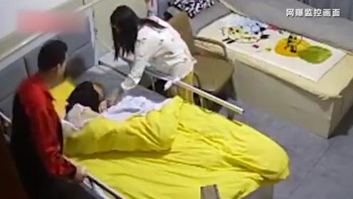 百岁老人突然离世 监控显示老人睡觉时曾被护工绑床上