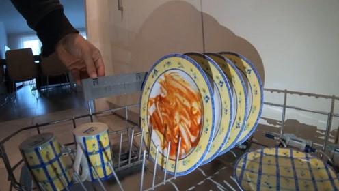 洗碗机如何把碗洗干净的?内置摄像头拍下全过程,看完意想不到!