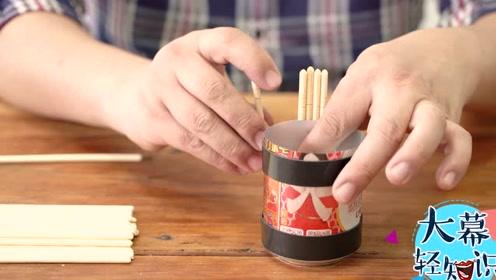 把筷子和普通衣架用到极致,巧做笔筒和花盆,就是这么的简单