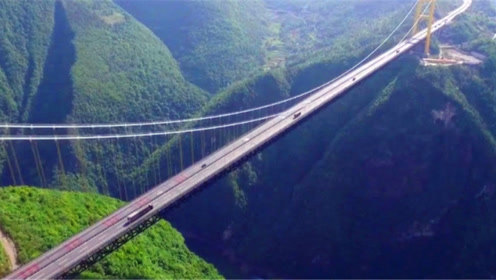 世界上最长的悬索桥,你见过吗?动用了火箭才顺利建成,厉害了