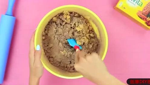 趣味搞笑恶作剧,妹子手工创意DIY恶搞,制作大号早餐饼