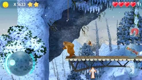 熊出没熊二需要消灭怪兽才能救出熊大,结果熊二被击倒了