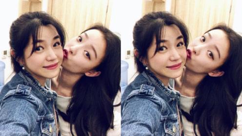 陈妍希捧场支持倪妮话剧 两美女后台亲亲画面养眼