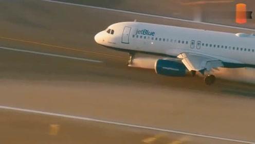 飞机降落前轮着火,网友:这才是真正的死神来了!