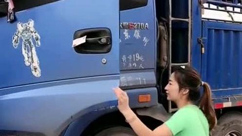 货车女司机准备工作,不得不说山东的大妹子就是漂亮,神似周冬雨