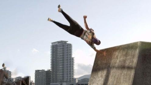 超刺激!泰国跑酷团队上演屋顶大爆炸,滑板公园变成奇葩训练基地