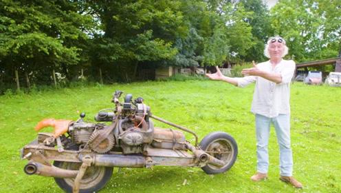 大爷被困沙漠12天,汽车改摩托成功脱险,但刚上路就被罚款!