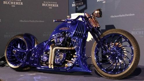 全球最壕摩托车,一边是名表一边是钻戒,骑出去不敢停车!