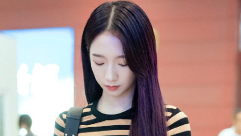 孟美岐机场造型曝光,紫发白裙仙气十足,网友:绝美
