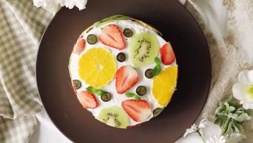 美得不像话的奶油水果蛋糕,这也太适合新人来练手了!