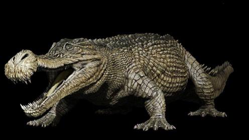 巨型鳄鱼横行一方,体长13米远长公共汽车恐怖霸气